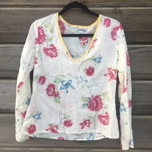 Lucky Brand - Whimsical Long Sleeve Floral Blouse